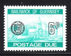 Guernsey 1977-80 MNH Scott #J24 6p Town Church, St. Peter's Port - Guernesey