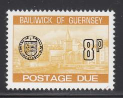 Guernsey 1977-80 MNH Scott #J25 8p Town Church, St. Peter's Port - Guernesey