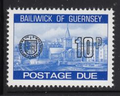Guernsey 1977-80 MNH Scott #J26 10p Town Church, St. Peter's Port - Guernesey