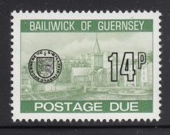 Guernsey 1977-80 MNH Scott #J27 14p Town Church, St. Peter's Port - Guernesey