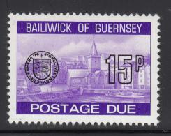 Guernsey 1977-80 MNH Scott #J28 15p Town Church, St. Peter's Port - Guernesey