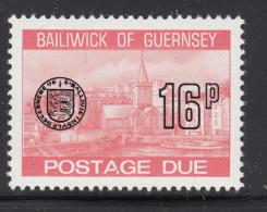 Guernsey 1977-80 MNH Scott #J29 16p Town Church, St. Peter's Port - Guernesey