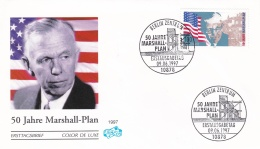 Germany FDC 1997 Marshall Plan   (G87-16) - FDC: Buste