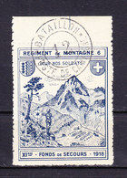 Soldatenmarke, 1918, Regiment De Montagne 6, Gestempelt (45864) - Labels