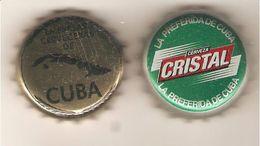 CAPSULE BIERE CUBA CERVEZA  LOT DE 2 CRISTAL ET EMPRESAS CERVECERAS DE CUBA - Beer