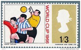 "Beautiful Stamps ""ERROR"" Of World Cup England 1966. Soccer Football Rimet Cup. - 1966 – Inglaterra"