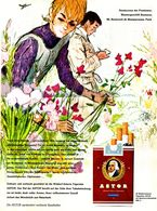 Original-Werbung/ Anzeige 1964 - ASTOR CIGARETTEN / BLUMEN BAUMANN  BOULEVARD DE MONTPARNASSE -PARIS - Ca. 230 X 320  Mm - Publicités