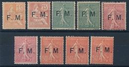 BS-248: FRANCE: FM  Lot  Avec N°(1-2-3(2))*charnières Lourdes-5*(2)-6*(3) - Franchise Stamps