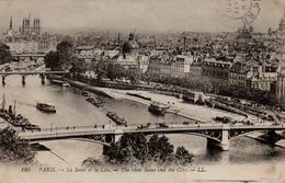 CPA 75 PARIS La Seine Et La Cité - The River Seine And Its Banks