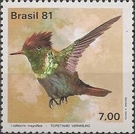 BRAZIL - HUMMINGBIRDS (Lophornis Magnifica) 1981 - MNH - Hummingbirds