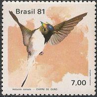 BRAZIL - HUMMINGBIRDS (Heliactin Cornuta) 1981 - MNH - Hummingbirds
