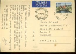 Postcard, Finland, Referring At The Big Earthquake From Romania , March, 4, 1977, Used 1977, March, 8, Air Mail - Rampen