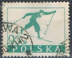 1953 -  POLONIA / POLAND - SCIATORE / SKIER - USATO / USED. - 1944-.... Repubblica