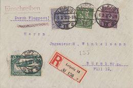 DR R-Luftpost-Brief Mif Minr.112,149,187,191 Leipzig 6.3.22 - Deutschland