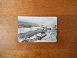 FUMAY-SAINT-JOSEPH CANAL,ECLUSE,BARRAGE ET TURBINES DES USINES DU PIED-SELLE 1907 - Fumay