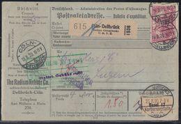 DR Paketkarte Mif Minr.91II,3x 115 Cöln-Dellbrück 19.8.20 Gel. In Schweiz - Deutschland