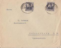 DR Brief Mef Minr.2x 106 Bpst. Chemnitz-Aue-Adorf - Deutschland