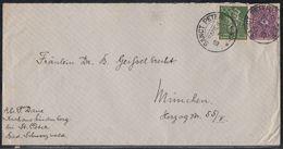 DR Brief Mif Minr.187,191 KOS Sanct Peter (Baden) 13.7.22 - Briefe U. Dokumente