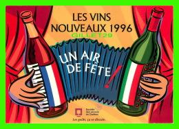 ADVERTISING - PUBLICITÉ -  LES VINS NOUVEAUX 1996 - UN AIR DE FÊTE - POP MÉDIA - - Publicité