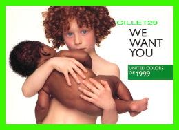 ADVERTISING - PUBLICITÉ - UNITED COLORS OF BENETTON 1999 -  ZOOM CARDS - - Publicité