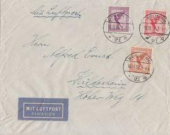 DR Luftpostbrief Mif Minr.379,A379,381 Berlin 10.11.31 - Deutschland