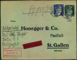 1942, Eilbrief Mit 25 Und 50 Pfg. Hitler Ab BERLIN SW 19 In Die Schweiz. OKW Zensur. - Nuevos