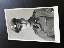 PK Foto Privat Portrait Waffen SS WSS Schirmmütze SS- Rottenführer Kragenspiegel - 1939-45