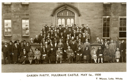 YORKS -  MULGRAVE CASTLE - GARDEN PARTY (WHITBY BOARD OF GUARDIANS (Abolished 1930)) RP Y3347 - Whitby