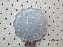 MALTA 5 Mils 1972  # 6 - Malta