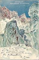 Suisse Killinger Zurich Ill E Schlem Surréaliste Montagne Grundelwald Gletscherhafte Gemuthlichkeit 1898 - Otros Ilustradores