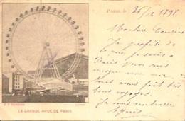 Grande Roue Paris 1898 Cachet Luxembourgeois Sur Timbres Français - Exhibitions