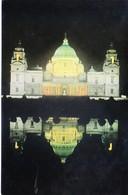 INDIA : COLOUR PICTURE POST CARD : TOURISM : VICTORIA MEMORIAL, CALCUTTA / KOLKATA : FRONT VIEW, ILLUMINATION 1988 - India
