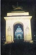 INDIA : COLOUR PICTURE POST CARD : TOURISM : VICTORIA MEMORIAL, CALCUTTA / KOLKATA : THROUGH THE SOUTHERN ARCH - India