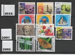 LIQUIDATION / SUISSE Années 2000, 2001 ET 2002   / 11  Timbres Oblitérés / Seront Livrés En Vrac - Gebraucht