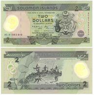Salomon - Solomon Islands 2 Dollars 2001 (polímero) Pick 23 UNC - Isla Salomon