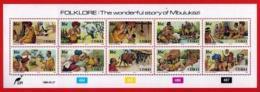 CISKEI, 1988, Mint Stamps In Full Sheets, MI 131-140, Folk Law , S925 - Ciskei