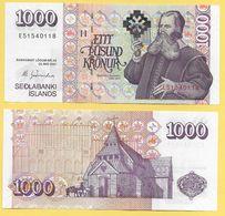 Iceland 1000 Kronur P-59 2009 Sign. Már Guđmundsson UNC - Iceland