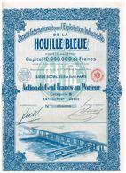 Action Ancienne - Sté Internationale Pour L'Exploitation Industrielle De La Houille Bleue Titre De 1927 - - Industrie