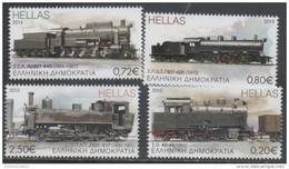 GREECE, 2015, MNH, TRAINS, 4v - Trains