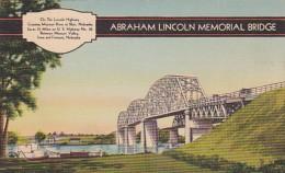 Abraham Lincoln Memorial Bridge Between Missouri Valley Iowa And Fremont Nebraska 1940 - Fremont