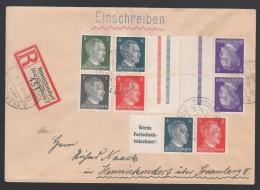 DR Einschreiben Landpost Zusammendrucke 1944 Hennickendorf K203 - Deutschland