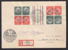 DR Einschreiben Zusammendruck Sonderstempel 1938 Berlin Zehlendorf Nach Berlin NW 40 K260 - Deutschland