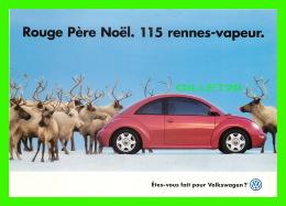 VOITURES DE TOURISME - PUBLICITÉ  VOLKSWAGEN - ROUGE PÈRE NOEL. 115 RENNES-VAPEUR - - Passenger Cars
