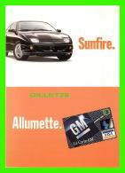 VOITURES DE TOURISME - PUBLICITÉ  SUNFIRE DE GM - ALLUMETTE, LA CARTE GM - ZOOM CARD - - Voitures De Tourisme