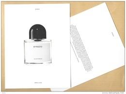 Carte Promo Perfume Card PARFUMS BYREDO * 15,5 X 20 Cm - Perfume Cards