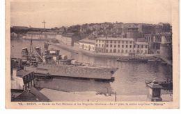 """& Brest - Entrée Du Port Militaire Et Les Magasins Généraux - Au 1er Plan , Le Contre Torpilleur """" Bison"""" - Brest"""