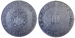 01881 GETTONE JETON TOKEN MONACO S.B.M. LOEWS MONTE CARLO CASINO 10 F - Casino