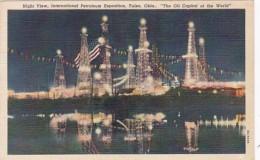 Oklahoma Tulsa Night View International Petroleum Exposition Cur