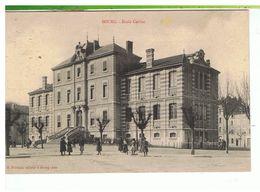 CPA-01-1905-BOURG-ECOLE CARRIAT-ANIMÉE-JEUNES FILLES DEVANT L'ECOLE- - Bourg-en-Bresse