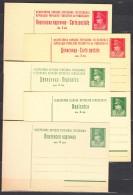 Yugoslavia Republic, 2 And 3 Dinara Tito Motive Postal Stationery Cards, Different Types, Excellent Mint Condition - 1945-1992 Socialistische Federale Republiek Joegoslavië